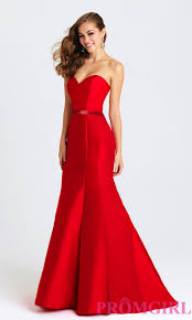 long strapless mermaid style prom dress by madison james mermaid