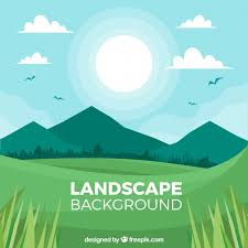 Beautiful Landscape Of Nature Free Vector