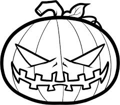 Pin Creepy Clipart Halloween Coloring 5