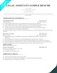 Sample Resume Legal Assistant Secretary Professional Samples