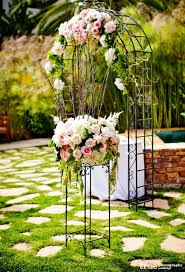 Outdoor Garden Ceremony Aisle And Arch Decorations Pinning For The Little Table