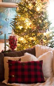 Rustic Christmas Tree With Buffalo Plaid Garland