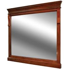 Frameless Bathroom Mirrors India by Foremost Naples 36 In X 32 In Wall Mirror In Warm Cinnamon