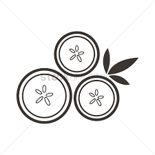Free Cucumber slice Vector Image