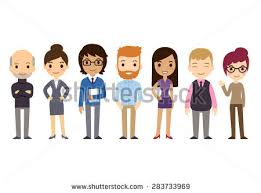 Set Of Diverse Business People Isolated On White Background Different Nationalities And Dress Styles