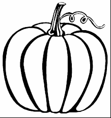Terrific Black And White Pumpkin Coloring Pages With Halloween