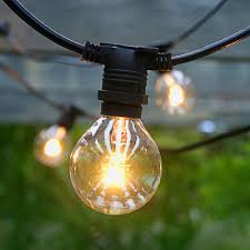 50 socket outdoor commercial string light g40 globe bulbs 54 ft