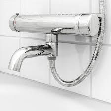 voxnan thermostat mischbatt badew dusche verchromt 150 mm