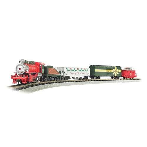 Bachmann BT24027 Trains Merry Christmas Express Ready To Run Electric Train Set N Scale