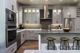 kitchen cabinet cup pulls hardware light grey shaker cabinets