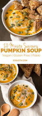 Vitamix Pumpkin Ginger Soup by 20 Minute Savoury Pumpkin Soup Recipe Pumpkins Gluten Free
