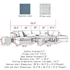 Sirio Patio Furniture Covers Canada by Niko 10 Piece Modular Seating Set In Slate By Sirio