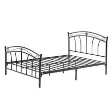 GreenHome123 Black Metal Bed Frame with Headboard and Footboard in