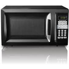 Hamilton Beach 07 Cu Ft Microwave Oven Black Red Gray