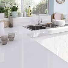 stratifié pour cuisine plan de travail stratifié blanc brillant l 315 x p 65 cm ep 58 mm