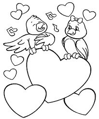 Love Birds Singing For Ones Coloring Pages