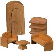 möbelsatz wohnzimmer für puppenhäuser 5 teilig
