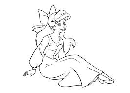 Princess Ariel Dress Coloring Pages