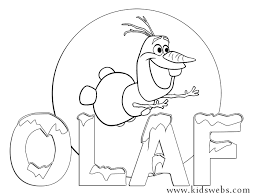 Olaf Frozen Movie Coloring Page Printable 1