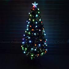 6ft Christmas Tree Fiber Optic Pre Lit Xmas With Berry LED Lights