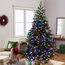 Puleo Christmas Trees by 7 5 Ft Reno Pine Pre Lit Full Christmas Tree Hayneedle