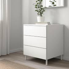platsa kommode mit 3 schubladen weiß fonnes weiß 60x57x73 cm