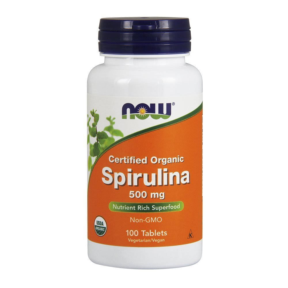 Now Foods Spirulina Supplement - 100 Tablets