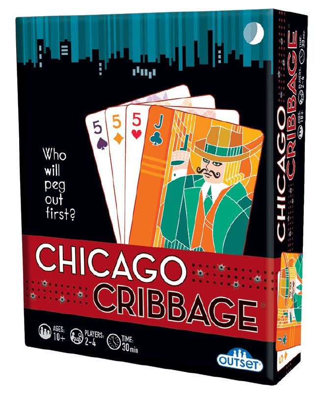 Outset Media Chicago Cribbage Game - Who Will Peg Out First?