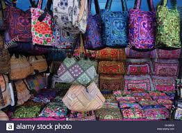 colorful hill tribe embroidery handicraft bags and purses at