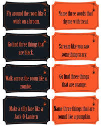 Free Printable Halloween Tricks For A Fun Party Game Idea