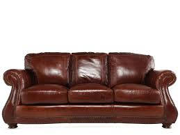 leather rolled arm 88 sofa in brandy mathis brothers furniture