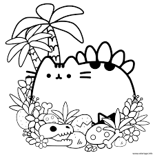 Coloriage Pusheen Cave Cat Dessin