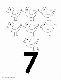 Main Image Of The Number Seven Coloring Page