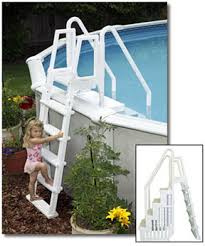 Above Ground Pool Ladder Deck Attachment by Above Ground Swimming Pool Steps And Ladders