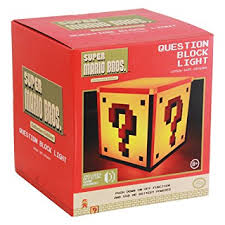 official nintendo super mario question block night light bedside