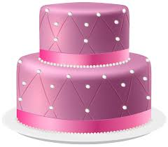 Cake clipart pink cake Pencil and in color cake clipart pink cake