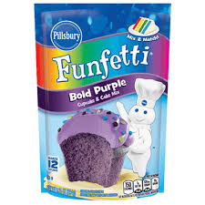 FunfettiR Bold Purple Cupcake Cake Mix