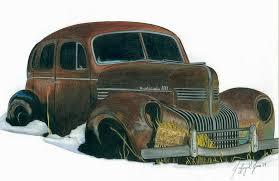 Old Windsor Car Drawing By Jeffery Jones