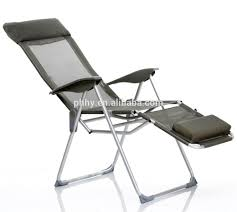 Camping Chair With Footrest Australia by Ajustable Aluminum Lounge Folding Chair With Footrest Sun Lounger