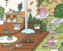 Heres My Most Recent Yard I Went W A Blue Pink N White Theme