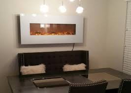 Touchstone Ivory Wall Mount Electric Fireplace In Dining Room
