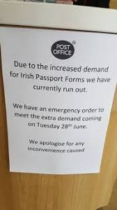 Brexit Belfast post office runs out of Irish passport application