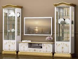 image for new barock tv wohnwand wohnkombination set rosa