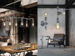 außergewöhnliche industrial style len für über esstisch