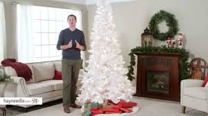 Deluxe White Flocked Pre Lit Christmas Tree