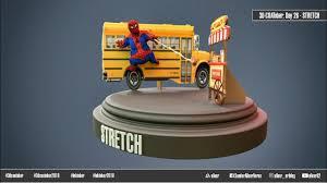 ArtStation - 3D-COATober: Day 26 - Stretch, Sandor 'allexr' Veres