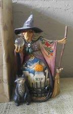 Jim Shore Halloween Ebay by Jim Shore Witch With Crystal Ball What Do I See 4008905 Heartwood