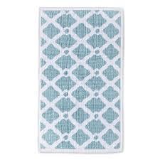 lattice bath rug blue 20 x34 threshold target