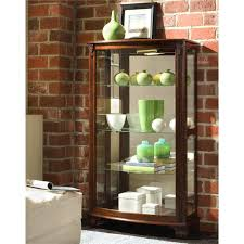 Pulaski Concave Corner Curio Cabinet by Pulaski Furniture Curios Gallery Mantel Curio Wayside Furniture