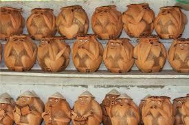 Handicrafts Made With Coconut Shell In Ben Tre Vietnam